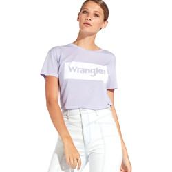 textil Dame T-shirts m. korte ærmer Wrangler W7016D Violet