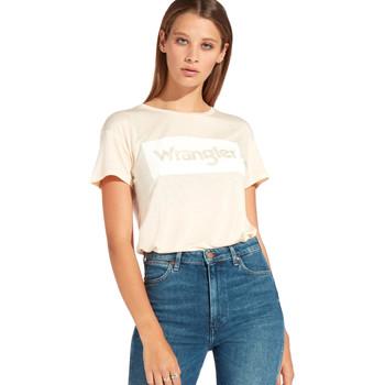 textil Dame T-shirts m. korte ærmer Wrangler W7016D Orange