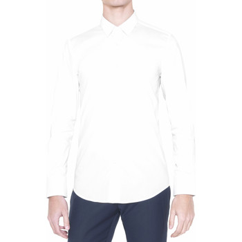 textil Herre Skjorter m. lange ærmer Antony Morato MMSL00375 FA450001 hvid