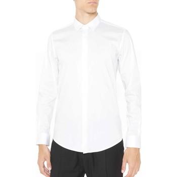 textil Herre Skjorter m. lange ærmer Antony Morato MMSL00293 FA450001 hvid