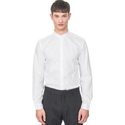 textil Herre Skjorter m. lange ærmer Antony Morato MMSL00604 FA440031 hvid