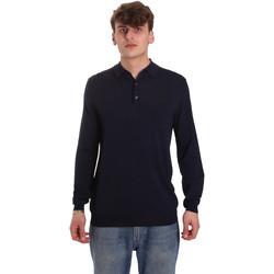 textil Herre Polo-t-shirts m. lange ærmer Antony Morato MMSW01065 YA500057 Blå