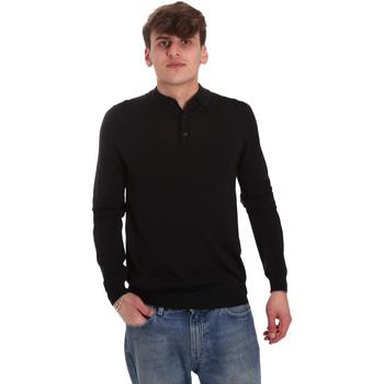textil Herre Polo-t-shirts m. lange ærmer Antony Morato MMSW01065 YA500057 Sort