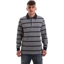 textil Herre Polo-t-shirts m. lange ærmer Navigare NV30027 Grå