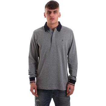 textil Herre Polo-t-shirts m. lange ærmer Navigare NV32023 Grå