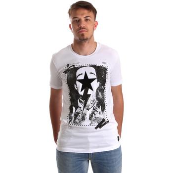 textil Herre T-shirts m. korte ærmer Gaudi 921FU64002 hvid
