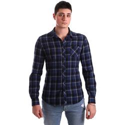 textil Herre Skjorter m. lange ærmer Gaudi 921BU45006 Blå