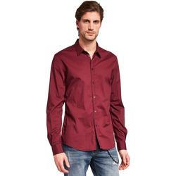 textil Herre Skjorter m. lange ærmer Gaudi 921BU45008 Rød