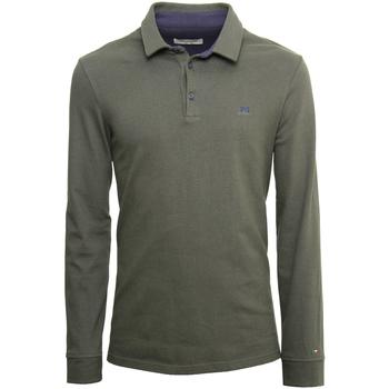 textil Herre Polo-t-shirts m. lange ærmer NeroGiardini A972290U Grøn