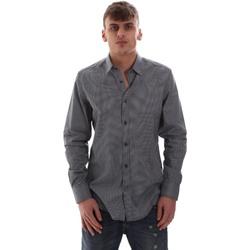 textil Herre Skjorter m. lange ærmer Antony Morato MMSL00574 FA430158 Blå