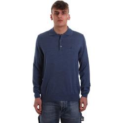 textil Herre Polo-t-shirts m. lange ærmer Navigare NV11006 40 Blå