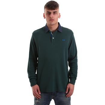 textil Herre Polo-t-shirts m. lange ærmer La Martina OMP007 JS169 Grøn