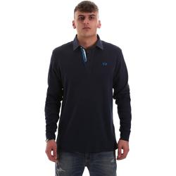 textil Herre Polo-t-shirts m. lange ærmer La Martina OMP007 JS169 Blå