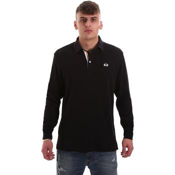 textil Herre Polo-t-shirts m. lange ærmer La Martina OMP007 JS169 Sort