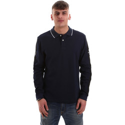 textil Herre Polo-t-shirts m. lange ærmer La Martina OMPM36 JS169 Blå