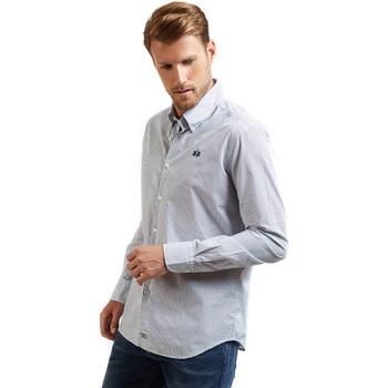 textil Herre Skjorter m. lange ærmer La Martina OMC016 PP462 Blå