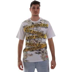 textil Herre T-shirts m. korte ærmer Sprayground SP017S hvid