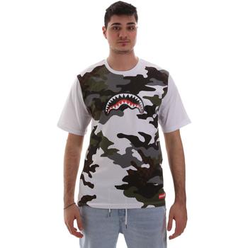 textil Herre T-shirts m. korte ærmer Sprayground SP023S hvid