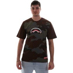 textil Herre T-shirts m. korte ærmer Sprayground SP018SBRO Brun