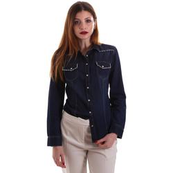 textil Dame Skjorter / Skjortebluser Gaudi 921BD46001 Blå