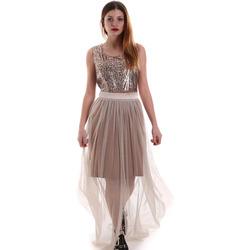 textil Dame Lange kjoler Fracomina FR19FM518 Beige