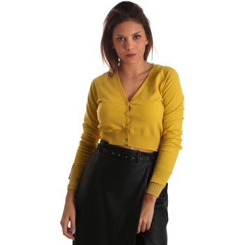 textil Dame Veste / Cardigans Fracomina FR19FM823 Gul
