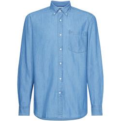 textil Herre Skjorter m. lange ærmer Calvin Klein Jeans K10K105288 Blå