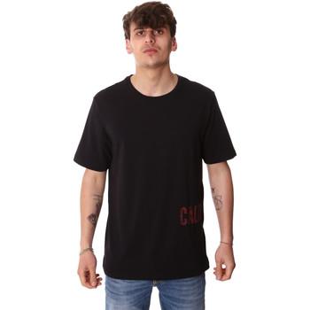 textil Herre T-shirts m. korte ærmer Calvin Klein Jeans 00GMH9K287 Sort