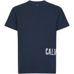 textil Herre T-shirts m. korte ærmer Calvin Klein Jeans 00GMH9K287 Blå