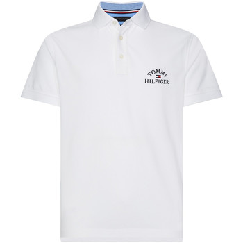 textil Herre Polo-t-shirts m. korte ærmer Tommy Hilfiger MW0MW13538 hvid