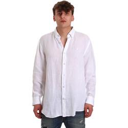 textil Herre Skjorter m. lange ærmer Navigare NV91108 hvid