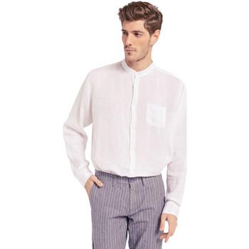 textil Herre Skjorter m. lange ærmer Gaudi 011BU45001 hvid