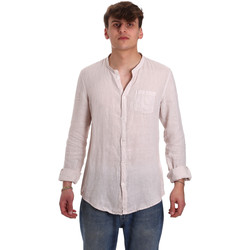 textil Herre Skjorter m. lange ærmer Gaudi 011BU45001 Beige