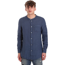 textil Herre Skjorter m. lange ærmer Gaudi 011BU45001 Blå