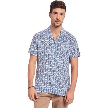 textil Herre Skjorter m. korte ærmer Gaudi 011BU45046 Blå