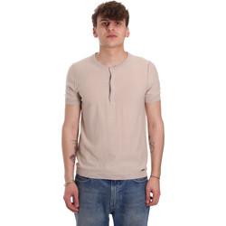 textil Herre T-shirts m. korte ærmer Gaudi 011BU53007 Beige