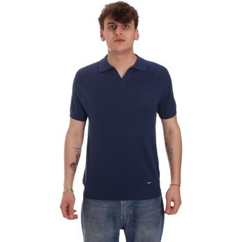 textil Herre Polo-t-shirts m. lange ærmer Gaudi 011BU53010 Blå