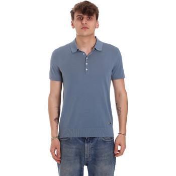 textil Herre Polo-t-shirts m. korte ærmer Gaudi 011BU53011 Blå