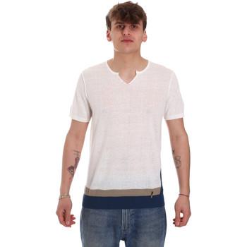 textil Herre T-shirts m. korte ærmer Gaudi 011BU53021 Beige