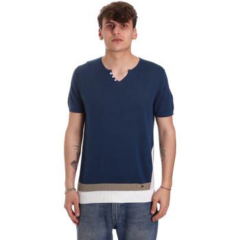 textil Herre T-shirts m. korte ærmer Gaudi 011BU53021 Blå