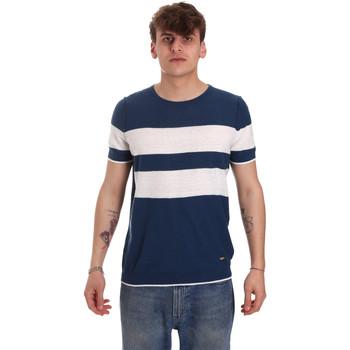 textil Herre T-shirts m. korte ærmer Gaudi 011BU53023 Blå