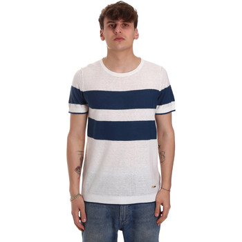 textil Herre T-shirts m. korte ærmer Gaudi 011BU53023 Beige