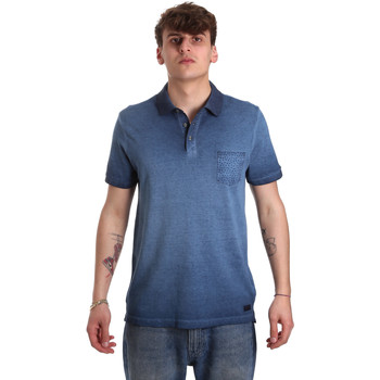 textil Herre Polo-t-shirts m. korte ærmer Gaudi 011BU64017 Blå