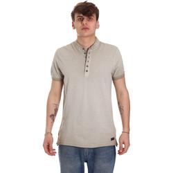 textil Herre Polo-t-shirts m. korte ærmer Gaudi 011BU64018 Beige