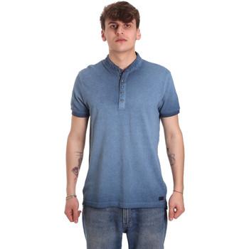 textil Herre Polo-t-shirts m. korte ærmer Gaudi 011BU64018 Blå
