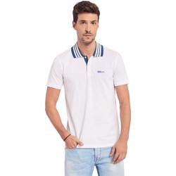 textil Herre Polo-t-shirts m. korte ærmer Gaudi 011BU64044 hvid
