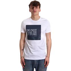 textil Herre T-shirts m. korte ærmer Gaudi 011BU64067 hvid