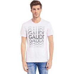 textil Herre T-shirts m. korte ærmer Gaudi 011BU64068 hvid