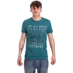 textil Herre T-shirts m. korte ærmer Gaudi 011BU64068 Grøn