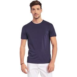 textil Herre T-shirts m. korte ærmer Gaudi 011BU64087 Blå